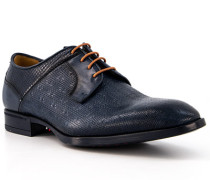 Schuhe Derby Leder blu