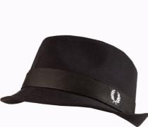 Herren Hut, Baumwolle, schwarz