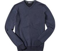 Herren Pullover Baumwolle denim meliert