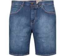 Herren Jeansshorts Regular Fit Baumwoll-Stretch denim blau