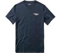 Herren T-Shirt, Baumwolle, marine blau