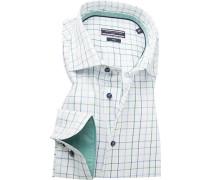 Herren Hemd, Fitted, Twill, grün-blau weiß kariert