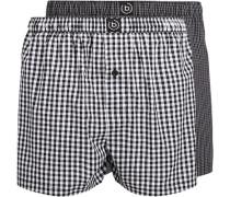 Herren Unterwäsche Boxershorts, Baumwolle, schwarz kariert