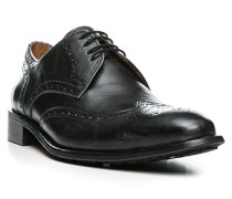 Herren Schuhe Brogues Leder anthrazit grau,braun
