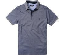 Herren Polo-Shirt Baumwoll-Piqué navy meliert