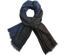 Herren Schal, Wolle, navy-braun gestreift blau