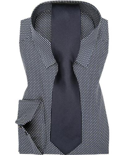 eterna herren herren hemd mit krawatte blau reduziert. Black Bedroom Furniture Sets. Home Design Ideas