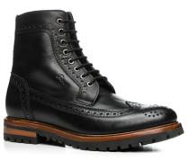 Herren Schuhe Boots, Leder, schwarz