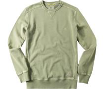Herren Sweatshirt Baumwolle helloliv grün