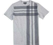Herren T-Shirt, Baumwolle, hellgrau meliert