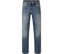 Herren Jeans Modern Fit Baumwoll-Stretch jeansblau
