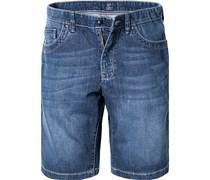 Herren Jeans-Shorts Baumwolle jeansblau