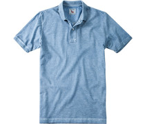 Herren Polo-Shirt Baumwoll-Piqué pastellblau