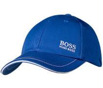 Herren Cap Baumwolle königsblau
