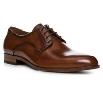 Herren Schuhe Derby, Kalbleder, braun