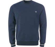 Herren Sweatshirt, Baumwolle, nachtblau