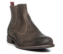 Herren Schuhe Stiefeletten Veloursleder taupe braun,beige