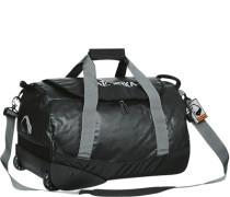 Herren Reisetasche mit Rollen, Mikrofaser, schwarz