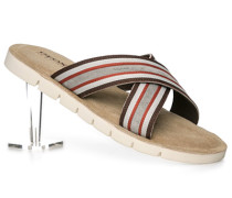 Herren Schuhe Sandalen Textil grau
