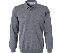 Polo-Shirt Wolle  meliert
