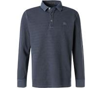 Polo-Shirt Baumwoll-Pique dunkel