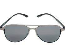 Herren Brillen adidas, Sonnenbrille, Metall, silber-blau grau