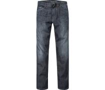 Herren Jeans Regular Fit Baumwolle dunkel