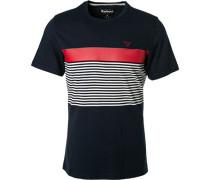 T-Shirt Tailored Fit Baumwolle navy gestreift