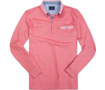 Herren Polo-Shirt Baumwoll-Pique fuchsia meliert