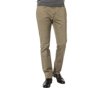 Herren Hose Chino, Modern Fit, Baumwoll-Stretch, khaki grün