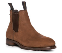 Herren Schuhe Chelsea Boots, Veloursleder Gore-Tex®, haselnuss braun