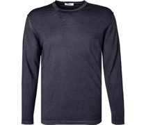 Pullover Wolle marine