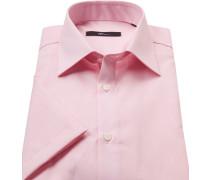 Kurzarmhemd Modern Fit Popeline rosa