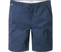 Herren Hose Shorts Baumwolle marine blau