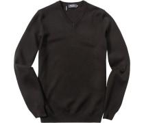 Herren Pullover Baumwoll-Mix dunkel