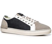 Herren Schuhe Sneaker Leder-Textil-Mix hellgrau-navy