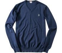 Herren Pullover Baumwolle dunkelblau
