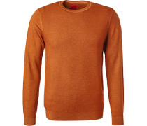 Herren Pullover, Schurwolle, orange