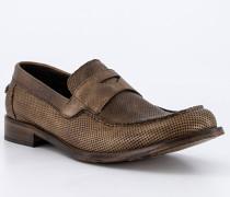 Schuhe Pennyloafer Kalbleder