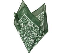 Herren Accessoires Einstecktuch, Baumwolle, grün gemustert