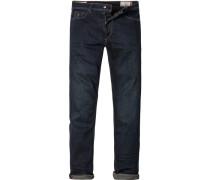 Herren Jeans Slim Fit Baumwoll-Stretch indigo blau