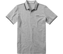 Herren Polo-Shirt Baumwoll-Piqué hellgrau meliert