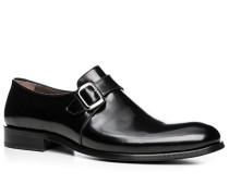 Herren Schuhe Monkstrap, Kalbleder, schwarz