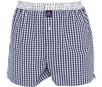 Herren Unterwäsche Boxershorts, Baumwolle, blau-weiß kariert