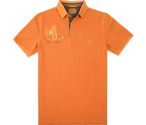 Herren Polo-Shirt, Baumwolle, orange