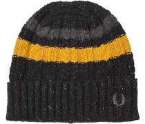 Herren  FRED PERRY Mütze Lammwoll-Mix schwarz gelb,schwarz