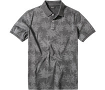 Herren Polo-Shirt Baumwolle anthrazit gemustert