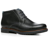 Herren Schuhe Stiefelette Leder warm gefüttert schwarz schwarz,braun