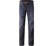 Herren Jeans Slim Fit Baumwoll-Stretch dunkelblau
