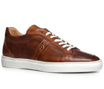 Herren Schuhe Sneaker, Kalbleder, cognac braun